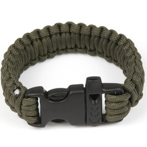 AOTU AT9001 Outdoor Survival Paracord Wrist Chain - Army Green
