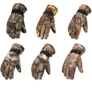 AUTO AT8817 Camouflage Pattern Windproof Men Warm Full Finger Gloves for Outdoors Skiing, Skating, Riding - Random Color / Size: M