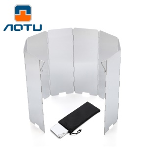 AOTU AT6343 8pcs Aluminum Alloy Outdoor Windshields for Picnic Stove
