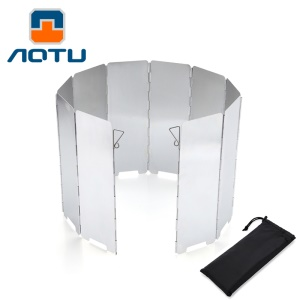 AOTU AT6344 10pcs Aluminum Alloy Outdoor Windshield for Barbecue Stove