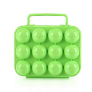 AOTU AT6360 Folding 12 Eggs Slots Holder Shockproof PC Storage Box for Camping Hiking - Green