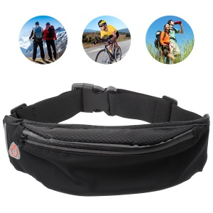 Outdoor Sports Breathable Zipped Waist Bag with Earphone Hole for iPhone 8 Plus/8 etc. - Black