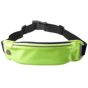 Breathable Waist Bag Sport Zipped Pouch with Earphone Hole for iPhone 8 Plus/8 etc. - Green