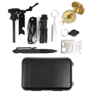 Outdoor Emergency SOS Survival Gear Kit for Wilderness /Trip / Cars / Hiking / Camping