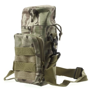 20L 600D Nylon Water Bottle Bag Outdoor Military MOLLE Pouch - CP Camo