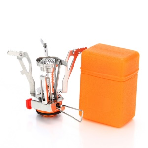 AOTU AT6312-A Mini Outdoor Portable Camping Stove Lightweight Foldable Gas Stove Cook Tool