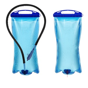 AOTU AT6601 2L Wide Mouth Hydration Drinking Water Bladder Bag Pouch for Sports Hiking Camping - Blue