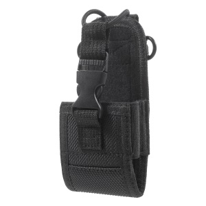 Nylon Fabric Adjustable Interphone Walkie Talkie Carrying Case Holder Holster Cover with Belt