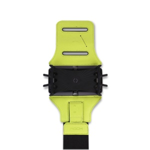 ROCK Outdoor Sports Adjustable PU Leather Gym Sports Armband Pouch for iPhone Samsung Huawei etc. - Green