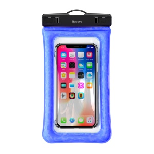 Baseus Universal Touch-friendly Cushion Waterproof Phone Pouch Bag with Neck Strap for iPhone Samsung Huawei etc. - Blue