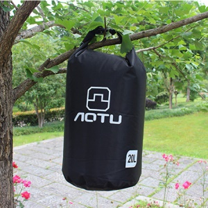 AOTU AT6614 20L Bucket Shape Outdoor Waterproof Swimming Bag - Black