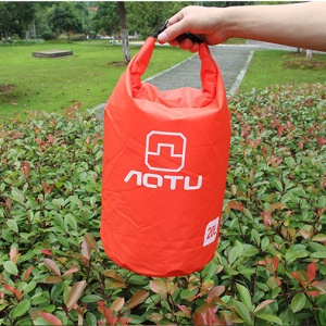 AOTU AT6614 20L Bucket Shape Outdoor Waterproof Bag Rafting Shoulder Bag - Red