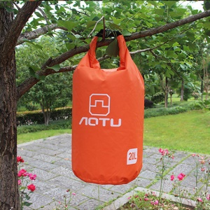 AOTU AT6614 20L Bucket Shape Outdoor Waterproof Bag Surfing Handbag - Orange