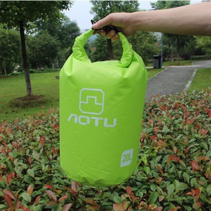 AOTU AT6614 20L Outdoor Waterproof Swimming Storage Bucket Bag - Green