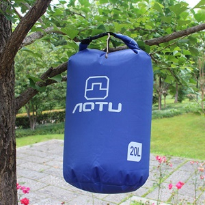 AOTU AT6614 20L Bucket Shape Waterproof Swimming Bag Outdoor Backpack - Blue