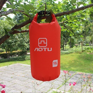 AOTU AT6613 10L Bucket Shape Outdoor Waterproof Swimming Bag - Red