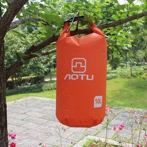 AOTU AT6613 10L Bucket Shape Waterproof Outdoor Swimming Bag - Orange