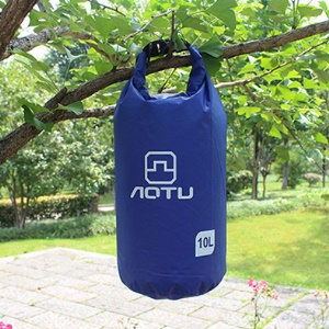 AOTU AT6613 10L Bucket Shape Outdoor Waterproof Swimming Pouch Bag - Blue