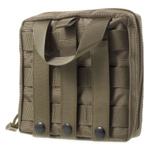 Dual Zipper Tactile Rescue Storage Pouch Bag for Hunting Camping Outdoor Survival - Khaki