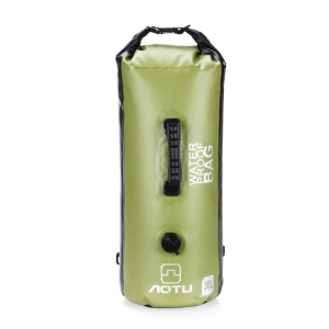 AOTU AT6615 30L Waterproof Canoe Backpack Dry Bag with Dual Air Valve Inflation and Handle - Green