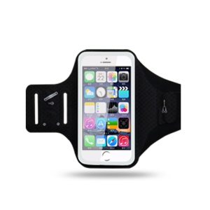 Universal 6.2 inch Smartphones Sports Chinlon Lycra Armband Case for Running Fitness and Cycling, Phone Compartment Size: 8 x 16.5cm - Black
