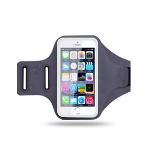 Universal 6.2 inch Smartphones Chinlon Lycra Armband Case for Running Fitness and Cycling, Phone Compartment Size: 8 x 16.5cm - Grey