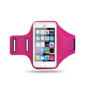 Universal 6.2 inch Smartphones Sports Chinlon Lycra Armband Punch Case for Running Fitness and Cycling, Phone Compartment Size: 8 x 16.5cm - Rose