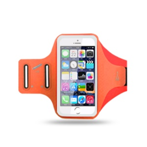 Multi-functional 6.2 inch Smartphones Sports Chinlon Lycra Armband Case for Running Fitness and Cycling, Phone Compartment Size: 8 x 16.5cm - Orange