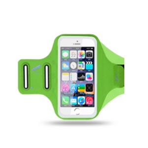 6.2 inch Smartphones Sports Chinlon Lycra Armband Punch Case for Running Fitness and Cycling, Phone Compartment Size: 8 x 16.5cm - Green
