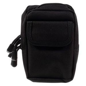 X-2 Outdoor Sports Canvas Multi-pocket Waist Bag - Black