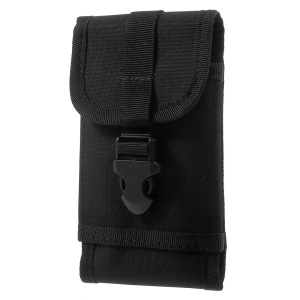 Military Molle Sport Bag Outdoor Hook Loop Pouch for iPhone 7 Plus/ 6 Plus/Samsung S7 Etc - Black