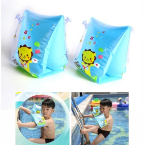 Baby Child Swimming Inflatable Floating Arm Ring Child Swimming Arm Safety Learner Training Circle Arm Sleeves - Blue