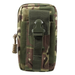 Waist Pack EDC Utility Gadget Bag with Cell Phone Holster Outdoor Tactical Pouch - Army Green Camouflage