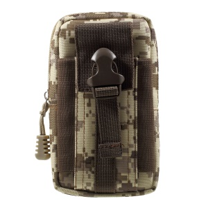 Utility Gadget Bag Waist Pack EDC with Cell Phone Holster - Brown Camouflage