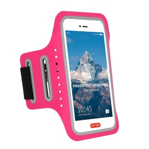 Universal 5 inch Stylish Cycling Running Fitness Armband Case - Rose