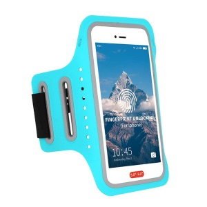 Universal 5 inch Smartphones Cycling Fitness Armband Case - Blue