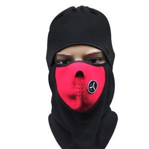 Balaclava Polar Fleece Windproof Anti-fog Motorcycle Ski Warm Mask Guard - Red