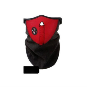 Unisex Polyester Windproof Ski Half Face Motorcycle Dust-proof Guard Mask - Red