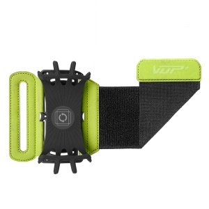 180-degree Rotatable Cycling Bag Wrist Strap Armband Case for 4-6 inches Phone - Green