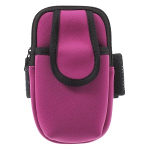 Neoprene Double Pockets Sport Armband Pouch Bag for iPhone 7 Plus/ 6s Plus/Samsung S7, Size: 17.5 x 11cm - Rose