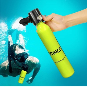 SMACO AT874 0.5L S300 Scuba Diving Oxygen Cylinder 3000psi/200bar Freedom Breath Underwater Equipment