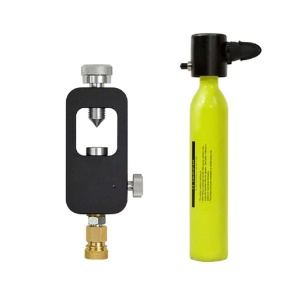 SMACO AT873 2-in-1 [0.5L S300 Scuba Diving Compressed Air Cylinder + Scuba Tank Refill Adapter] Diving Equipment Set E