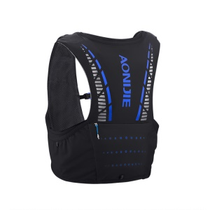 AONIJIE C933 Hydration Pack Backpack Rucksack Bag Vest Harness Running Marathon Race - Black / Blue / Size: M/L