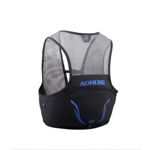 AONIJIE 2.5L Trail Running Bag Vest Backpack Ultralight Breathable Cycling Marathon Race Rucksack - Black / Blue / Size: L/XL