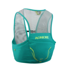 AONIJIE 2.5L Trail Running Bag Vest Backpack Ultralight Breathable Cycling Marathon Race Rucksack - Cyan / Size: S/M