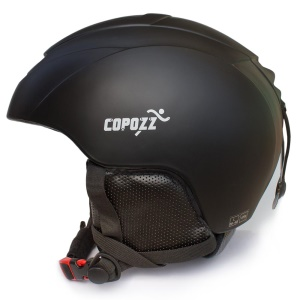 COPOZZ Ski Helmet Integrally-molded Warm Protective Unisex Helmet for Snow Sports - Black / Size: M