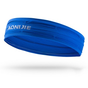 AONIJIE Women Men Sports Sweatband Headband Gym Stretch Head Band Hair Band - Blue