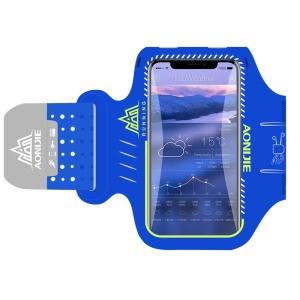 AONIJIE Cell Phone Armband 5.2-Inch Phone Holder Case, Phone Compartment Size: 14.5 x 7.5 x 0.73cm - Blue