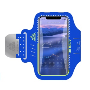 AONIJIE Universal 6 inch Smartphones Sports Armband Case for Running Fitness and Cycling, Phone Compartment Size: 8.5 x 16.5cm - Blue