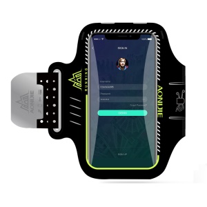 AONIJIE Universal 6 inch Smartphones Sports Armband Case for Running Fitness and Cycling, Phone Compartment Size: 8.5 x 16.5cm - Black